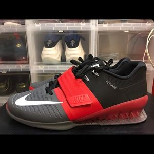Nike Romaleos 3 Weightlifting Shoe University Red